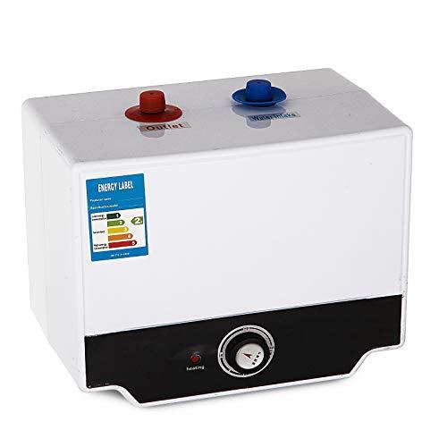 Cueffer Calentador de Agua Eléctrico Calentador de Agua Instantáneo Calentador de Agua Eléctrico con Tanque de Acero Inoxidable (15L)