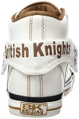 British Knights Roco, Baskets hautes homme Blanc - Weiß (White-Cognac 06)