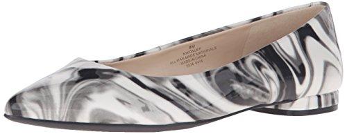 Nine West Onlee sintetico punta appuntita piatto Grey Marble
