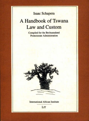 A Handbook of Tswana Law and Custom (0) (Classics in African Anthropology)