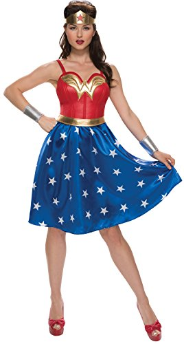 Rubie's Adult Deluxe Long Dress Wonder Woman Fancy Dress Costume Large (Adult Kostüm Wonderwoman)