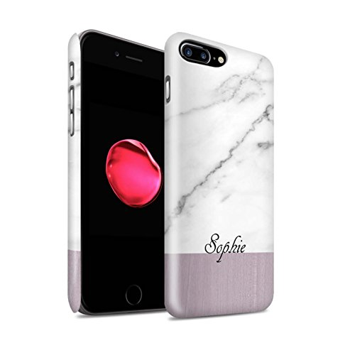Personalisiert Individuell Holz/Marmor Matte Hülle für Apple iPhone X/10 / Granit/Hölzern Design / Initiale/Name/Text Snap-On Schutzhülle/Case/Etui Granit/Hölzern