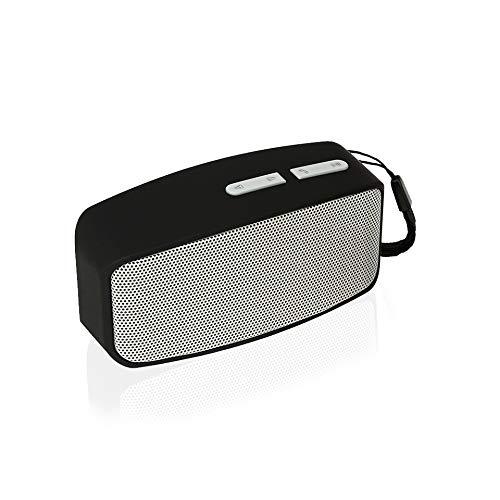 GJ&KD Tragbarer drahtloser Mini-Bluetooth-Lautsprecher Subwoofer Bluetooth-HiFi-Stereoanlage Musik-Surround-Player Breitbandlautsprecher, Grau