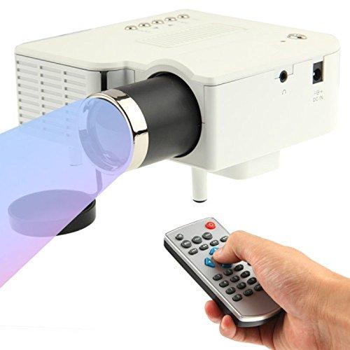 A30 Mini LED Laser Projektor Beamer Cinema Heimkino HD 1080p USB SD AV HDMI VGA, Bild-System: LCD, Auflösung: max. 1920 x 1080, Helligkeit: 48 Lux, 380g Gewicht, Farbe Schwarz oder Weiß - 1080p Laser-projektor