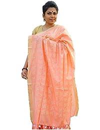The Wardrobe Women's Bhagalpuri Slik Saree(TW002_Peach_Freesize) …