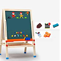 HAOCHIDIAN Childrens Art Easel Magnetic Small Drawing Board Whiteboard Writing Board Painter with Graffiti Board Learning Double Sided Easel for Toddlers Painting