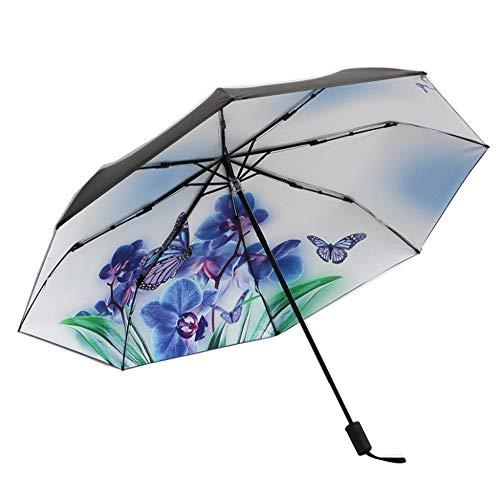 Kreativer Dreifach Gefalteter Schmetterlingsregenschirm-Sonnenschutz(Schmetterling2)