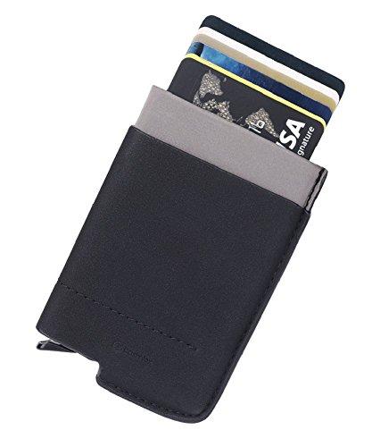 RFID blocage Portefeuille Porte-cartes, en Aluminiumen, avec un poche d'monnie