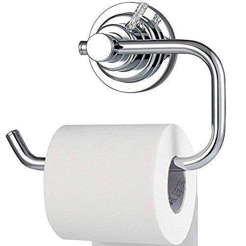 BOPai Moderne Vakuum Saugnapf Absaugen Toilettenpapierhalter, papierrollen Inhaber Halterung für Badezimmer Toilette küche- Befestigung ohne Bohren Chrome -