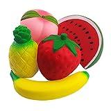 NORTHERN BROTHERS Squishys Squishies - Squishy Kawaii Jumbo Früchte Squishies Squishy Squeeze Spielzeug (5 Stück)