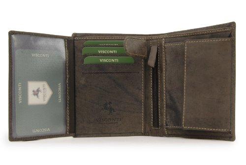 Portafoglio uomo in pelle regalo Visconti - 709 Olio Marrone