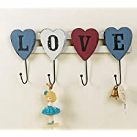 Love decorative hooks retro bedroom letters home wrought iron wall mount the door hook , 1
