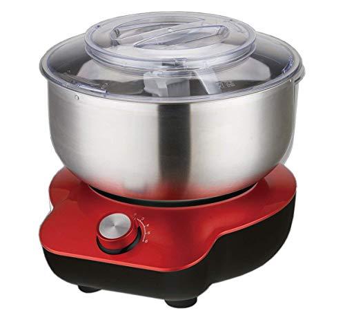 DMS® 5 Liter Küchenmaschine 1400W Knetmaschine Rührmaschine EdelstahlSchüssel mit Spritzschutz KMS-1400R
