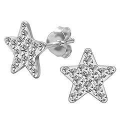 Idea Regalo - SoulCats® 1 paio di orecchini a stella in argento sterling 925 nel colore lilla