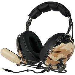 Arctic P533 (Militar) - Auriculares Estéreo Gaming, HiFi. Micro Boom, para PC, Portátil, Smartphones, Xbox, Playstation y Dispositivos Conector 3,5 mm