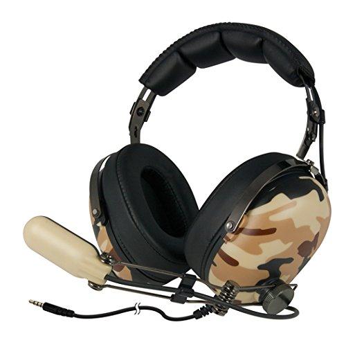 ARCTIC P533 Military - Auriculares estéreo Gaming, HiFi. Micro Boom, para PC, portátil, Smartphones, Xbox, Playstation y Dispositivos Conector 3,5 mm
