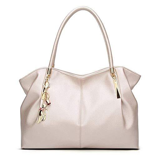 LYLb Professionelle Damentasche, atmosphärische Handtasche, vielseitige Temperament-Schultertasche, weiches Lederhaken-Paket (Farbe : Weiß)