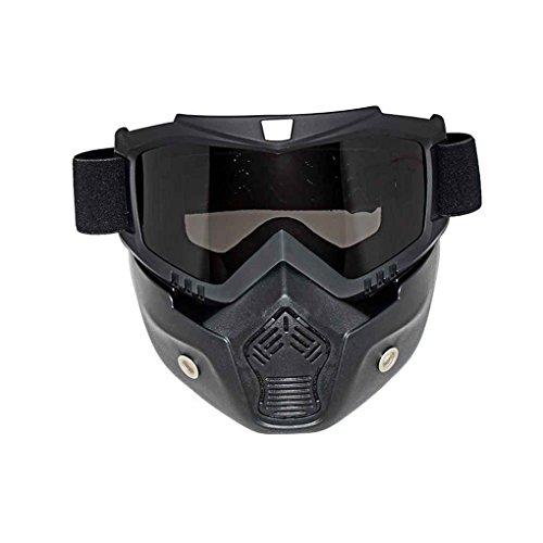 Regard L Motorrad abnehmbare Gesichtsmaske Brille Fahrrad-Fahrrad-Motorrad Skibrille windundurchlässiges Motorrad Gesichts-Schutz Snowboard Brillen Maske