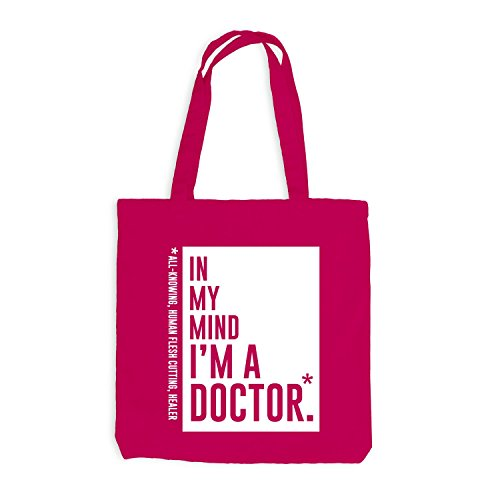 Jutebeutel - In my mind I'm a doctor - Style Words Pink