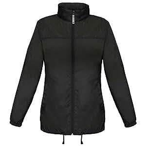 B&C Ladies Sirocco The Windbreaker showerproof foldaway jacket