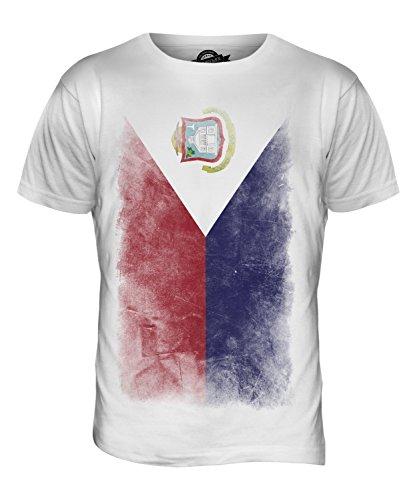 CandyMix St. Martin Verblichen Flagge Herren T Shirt Weiß