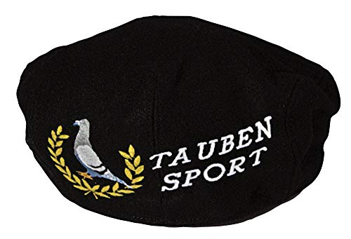 Taube-stick (Fan-O-Menal Gatsby - Cap mit gr. Tauben-Stick hinten - Taube Taubensport - 53423 schwarz - Baumwollcap Baseballcap Schirmmütze Cappy)