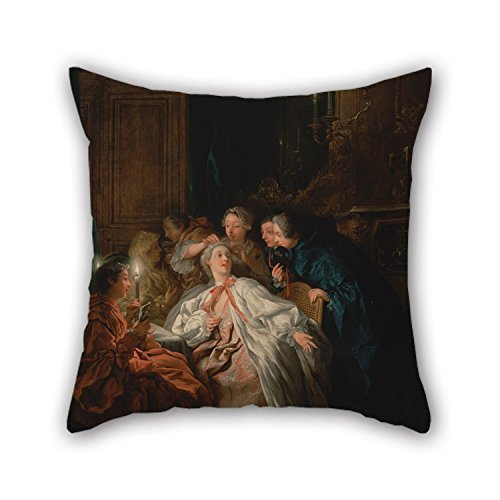 20 X 20 Inches/50 by 50 cm Oil Painting Jean-FrançOis De Troy (French - Before The Ball Pillowcase,2 Sides is Fit for Relatives,Lounge,Home,Home Office,Birthday,Pub - Troy Home-office