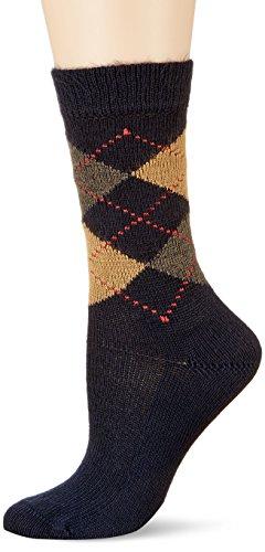 Burlington Damen Socken Whitby, 5 DEN, Blau (Navy 6153), 36-41