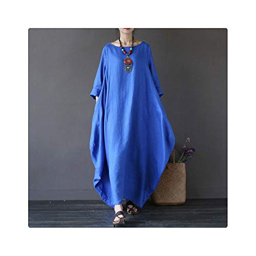 Plus Size 5XL Harajuku Korean Style Fashion Solid Color Loose Casual Dress Women Large Big Long Sleeve Dresses Black Red Green Blue 5XL