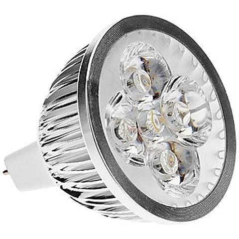 XMQC*(5.3) 4W 3000K bianco luce spot a LED lampadina ( (120 Volt 4 Catena Luce)