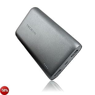 PokeMate® 10000mAh Powerbank Ultra Compatta Batteria esterna ad alta capacità per la ricarica veloce dei tuoi dispositivi Apple e Android tramite la doppia uscita USB con tecnologia Smart