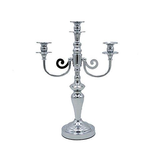 XGMSD Creativo Metallo Candeliere Wedding. Crafts. Decorazione Alta 41,5 Centimetri 12,5 Centimetri Di Diametro Base Lunghezza Totale 29 Centimetri Argento.
