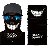 3D Skull Face Sun Mask Bandana, Wind/Sun/uv Protection Dust-Proof Cycling Neck Gaiter Headwear Headbands For Skiing, Fishing, Hunting, Running, Motorcycling (g)