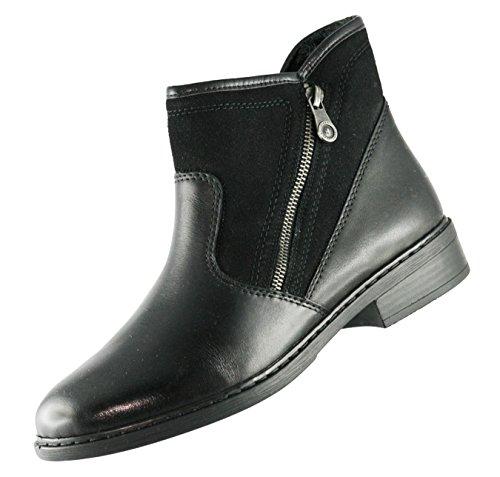 Rieker Winter Damen Schuhe schwarz 77571-00 mit Schurwollfutter Schwarz