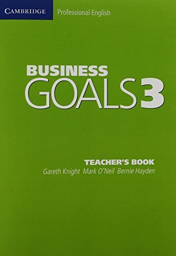 Business Goals 3 Teacher's Book (Cambridge Professional English) by Gareth Knight (2005-06-13)