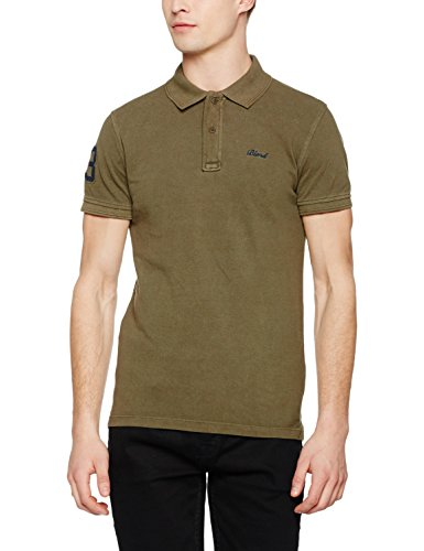Blend Herren Poloshirt Grün