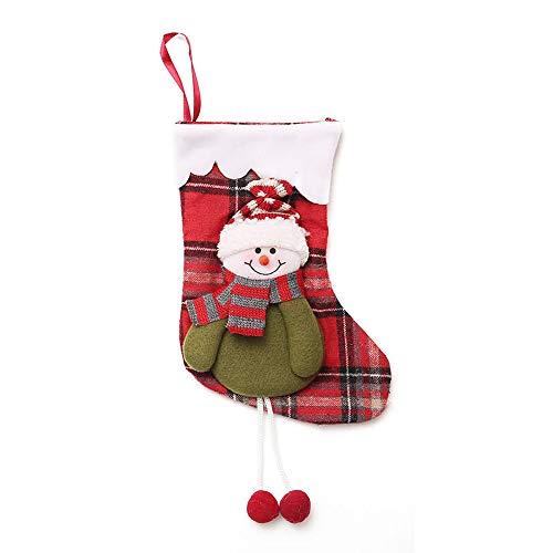 Weihnachtssüßigkeitstasche, Zolimx Kindergeschenktasche-Beutel-Weihnachtsgeschenk-Baum-Verzierungs-Strumpf-Weihnachtsmann-Schneemann-Socken-Dekor (B)