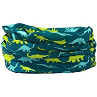 DINOSAURS - RUFFNEK® Multifunctional scarf/neck warmer for Men, Women, Children - Bandana/scarf, Ski or Beach Holiday Head Scarf, beanie hat, protective sun, wind, snow mask, hiking, cycling, skiing, camping, outdoors