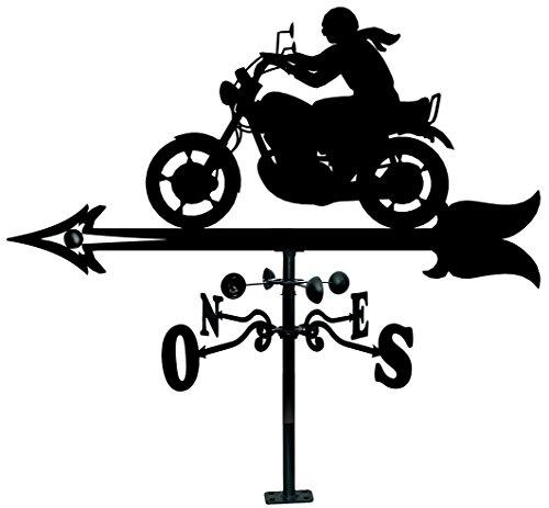 Arthifor Veleta Tejado Silueta Motorista, Negro mate