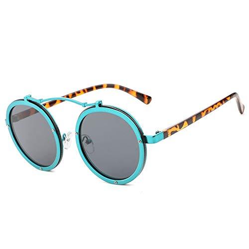 ZHOUYF Sonnenbrille Fahrerbrille Damenmode Sonnenbrillen Runder Rahmen Hohe Qualität Uv400 Weibliche Sonnenbrille Großhandel, E