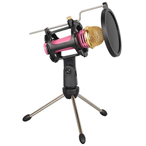 Mikrofonständer, Voberry Stativ Mic Arm Stand Mikrofon Suspension Boom Scissor Halter für Studio Broadcast - Scissor Mic Stand Arm