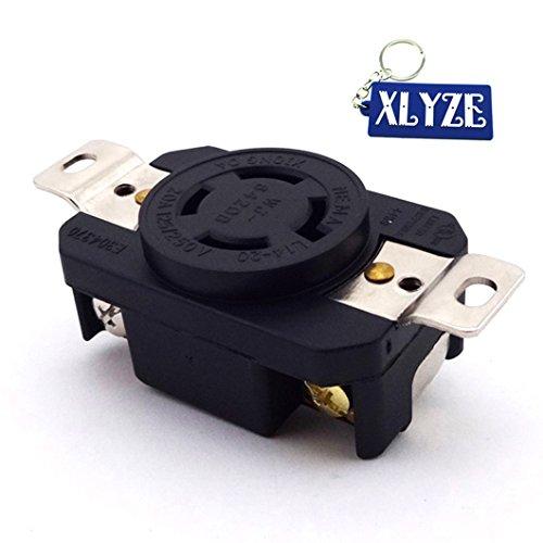 xlyze Steckdose der Verdrehen des Datenbuchse Sockel des Generator 20Amp 125/250V Annahme der UL Nema L14–20R (Steckdose 20 Amp)