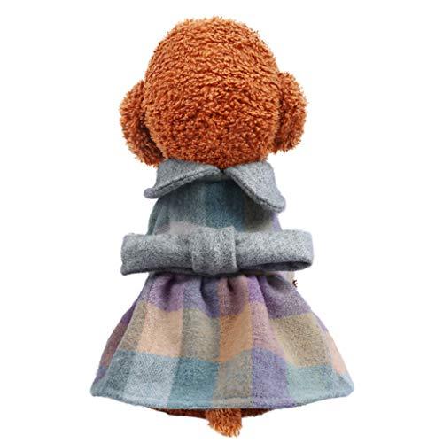 Einfache Reh Kostüm - MCYs Hundemantel Winter Neue Haustier einfache Wilde Rock Herbst und Winter Bequeme Katzen Hundekleidung