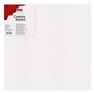KREUL 603030 Canvas Board, cartón para Pintar para acrílico y Gouachefarben, con Lienzo Revestido, Ideal para Principiantes, Aprox. 30 x 30 cm, Color Blanco, Talla única.