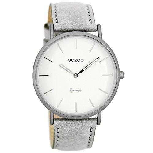 Oozoo Damen Digital Quarz Uhr mit Leder Armband C7736
