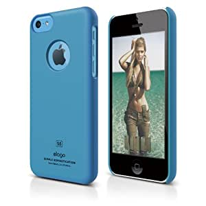elago S5C Slim Fit Case for iPhone 5C - eco friendly Retail Packaging (Soft Feeling Blue)