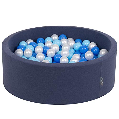 KiddyMoon 5902687419159 - Pelota Infantil, Color Azul Oscuro y Azul