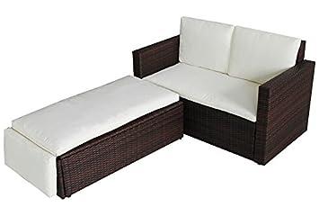 Rattan gartenmöbel braun  Amazon.de: POLY RATTAN Lounge Gartenset Sofa Garnitur Polyrattan ...