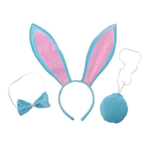 chiwanji 3 / Set Mädchen Kind Nette Häschen Kostüm Gesetzte Lange Ohr Stirnband Endstü Krawatte - - Häschen Kinder Kostüm