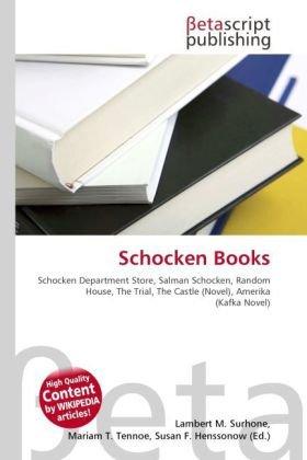 Schocken Books: Schocken Department Store, Salman Schocken, Random House, The Trial, The Castle (Novel), Amerika (Kafka Novel)